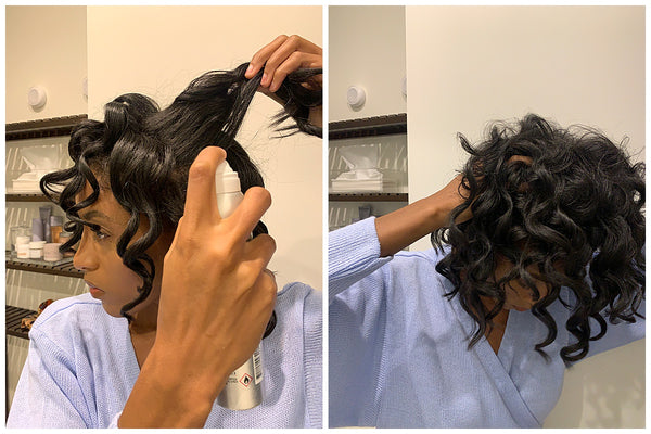 How to voluminous loose curls on day two hair ouai blog Remonia Morrison