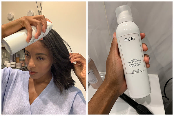 How to voluminous loose curls on day two hair ouai super dry shampoo Remonia Morrison natural kinky curly texture