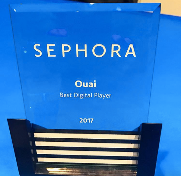 OUAI Sephora Award Best Digital Player