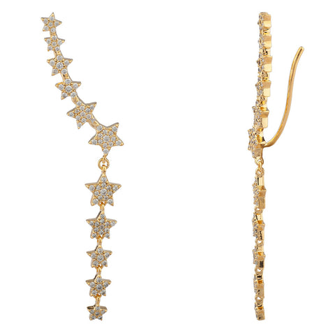 star disco climber earrings Shashi