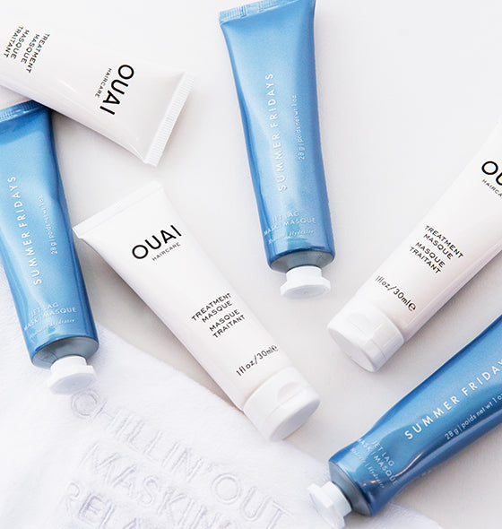 OUAI X Summer Fridays Kit Summer Fridays Jet Lag Mask OUAI Treatment Masque