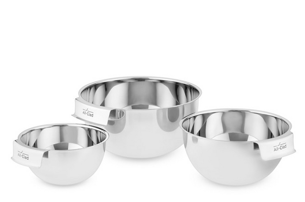 all clad stainless steel 3 piece mixing bowl set ouai blog holiday gift ideas 2020