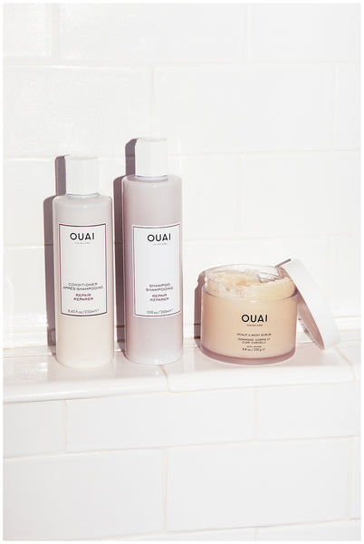 best products for dry hair OUAI Scalp & Body Scrub dry hair tips