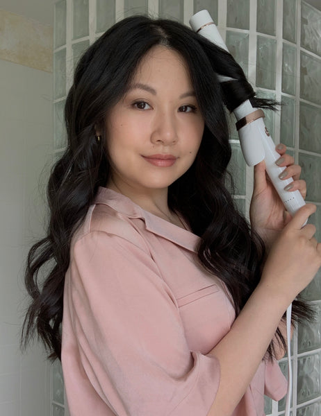 bouncy waves for thick hair how to emily chow ouai haircare
