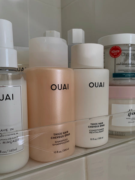 bouncy waves for thick hair how to emily chow ouai haircare thick hair shampoo thick hair conditioner