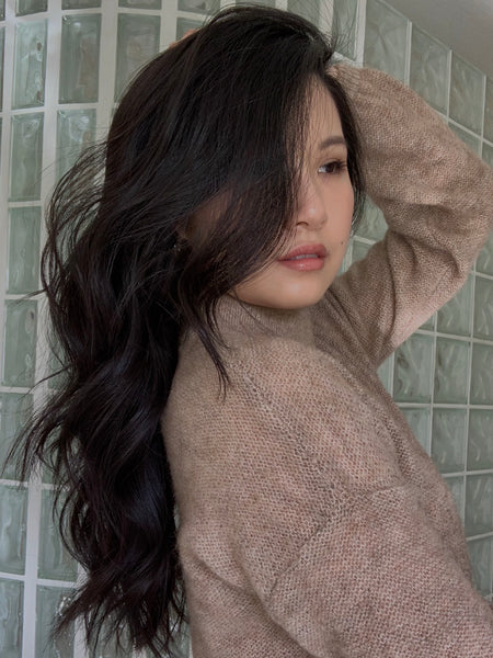 bouncy waves for thick hair how to emily chow ouai haircare matte pomade hair oil