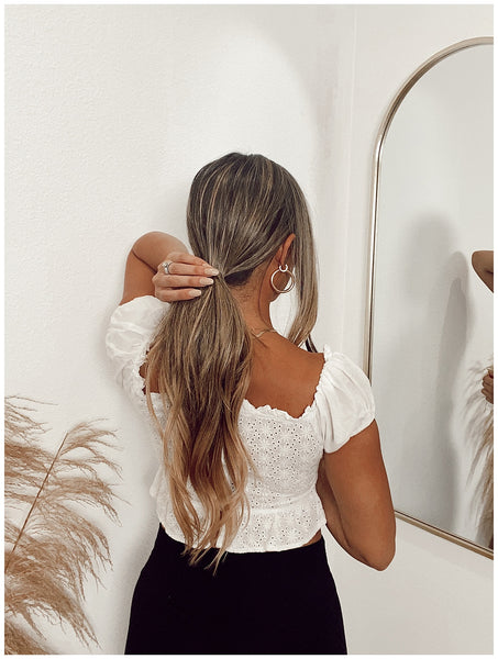 braided ponytail hair scarf easy summer hairstyle how to ouai valeria loren 2