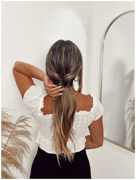 braided ponytail hair scarf easy summer hairstyle how to ouai valeria loren
