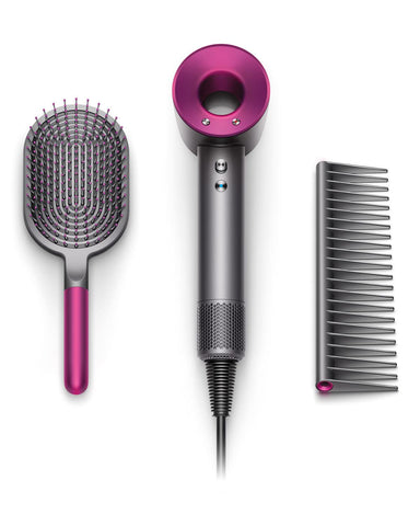 dyson supersonic hair dryer gift set with paddle brush and comb mothers day 2019 gift ideas ouai