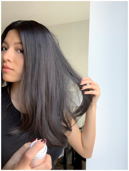 easy lazy girl updo claw clip how to ouai finishing creme volumizing hair spray charlene truong sleek blowout hair and body shine mist