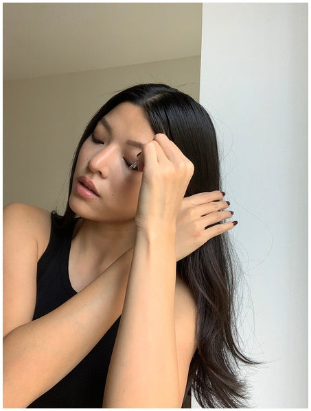 easy lazy girl updo claw clip how to ouai finishing creme volumizing hair spray charlene truong sleek blowout ouai hair and body shine mist