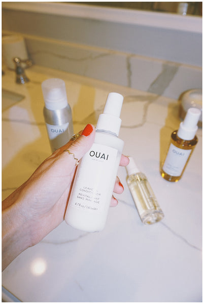 curling iron waves ouai leave in conditioner