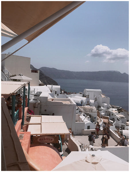 insiders guide to Santorini Greece Maria Giannetos OUAI Haircare