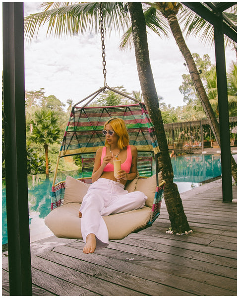 insiders travel guide bali india jess cheng ouai  jungle fish hammock