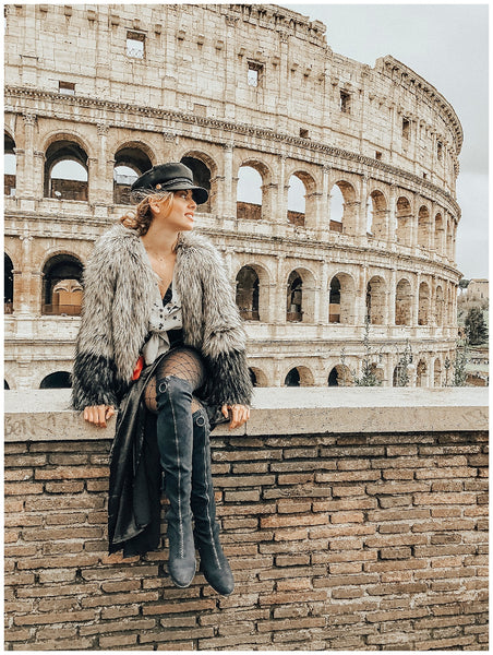 Linoya Friedman Rome Italy Coliseum Travel Guide OUAI Haircare