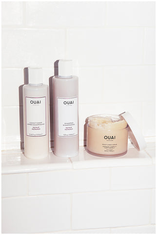 multitasking beauty products ouai scalp and body scrub