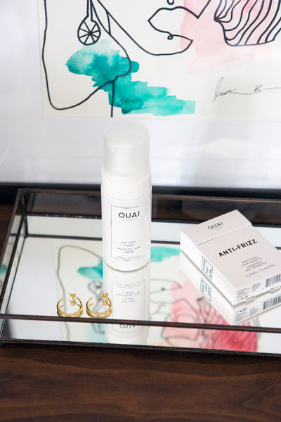 OUAI Air Dry Foam OUAI Anti-Frizz Sheets wash and wear hairstyle air dried waves