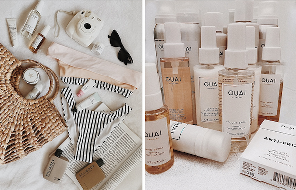 OUAI Crush Emma Rose Sydney Travel Guide OUAI Wave Spray OUAI Texturizing Hair Spray OUAI Anti Frizz Sheets OUAI Leave In Conditioner