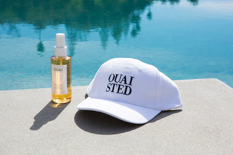 OUAI Wave Spray, OUAISTED Dad Hat