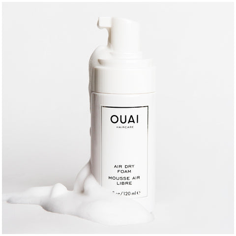 ouai air dry foam wash and wear hairstyle curly wavy hair