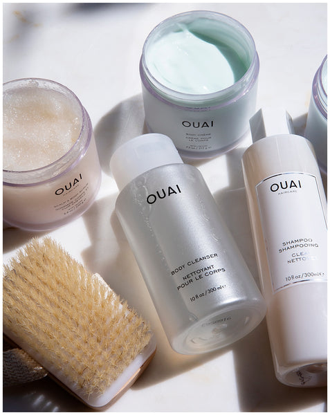 ouai body creme ouai body cleanser ouai scalp and body scrub dry brushing benefits skin