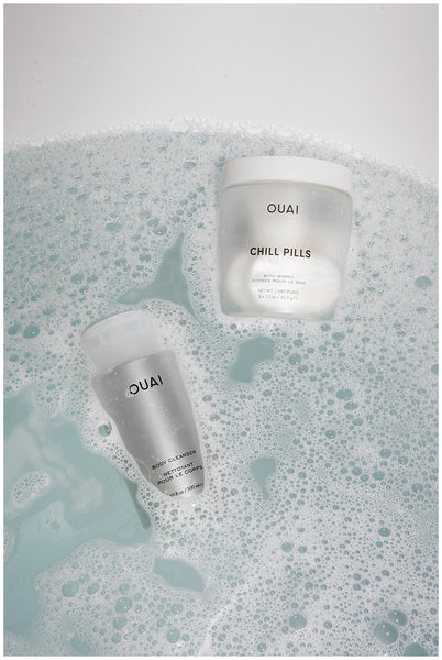 ouai body cleanser ouai chill pills bubble bath soft skin tips products