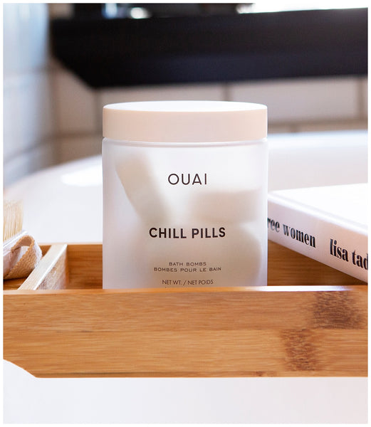 ouai chill pills fizzy scented moisturizing tablet bath bomb