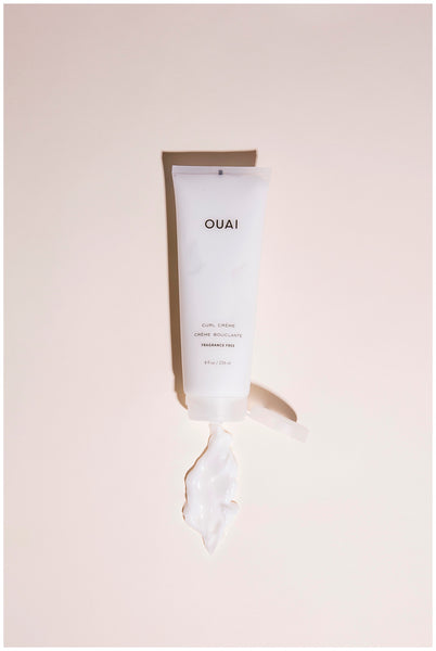 ouai curl creme fragrance free styling cream for definition hydration shine