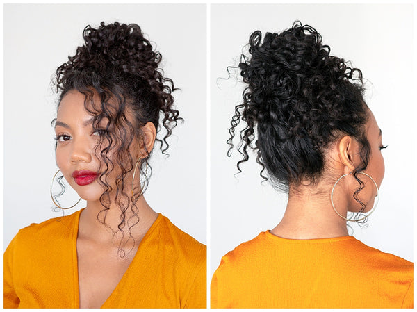OUAI Updo For Naturally Curly Hair Tutorial Finishing Creme Memory Mist