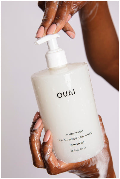 ouai hand wash creamy lather gently exfoliating hand cleanser