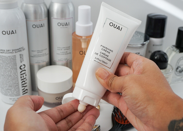 ouai how to big loose curls michelle milla finishing creme