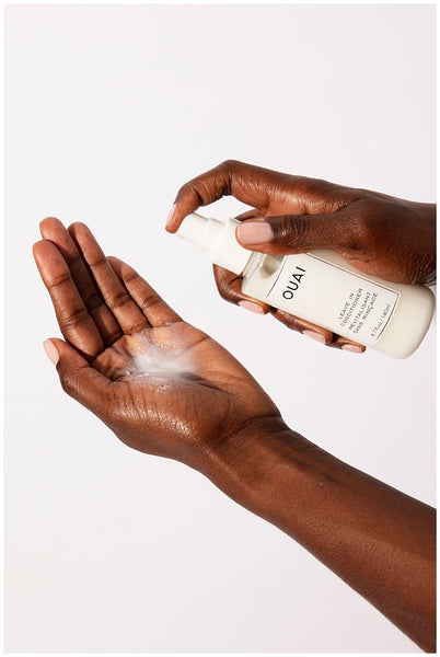 ouai leave in conditioner heat protection up to 450 degrees reduces hair breakage