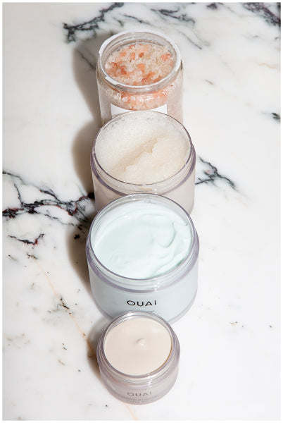 ouai scalp and body scrub bubble bath self care