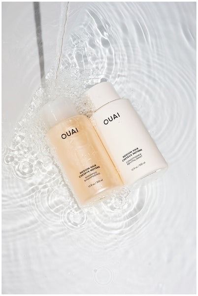 ouai summer dry hair tips products ouai medium shampoo and conditioner