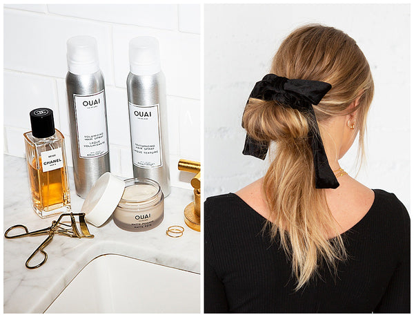 ouai texturizing hair spray matte pomade new years eve 2020 hairstyle how to