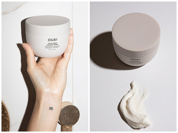 ouai thick hair treatment mask for dry damaged hair product texture