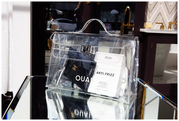 ouai travel size anti frizz hair sheets instantly tame flyaways