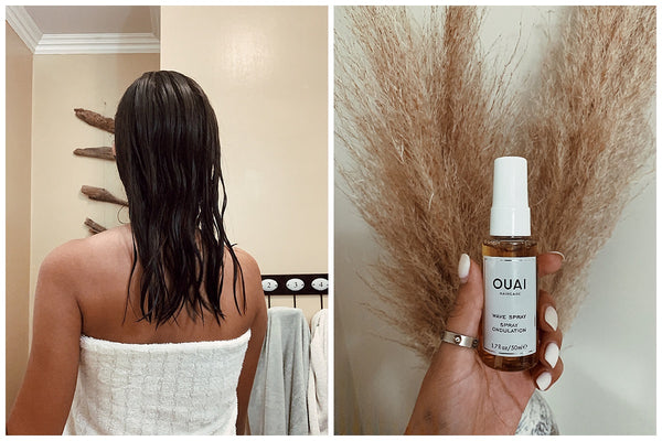 overnight braids beach waves for straight hair OUAI wave spray genessis meza 1