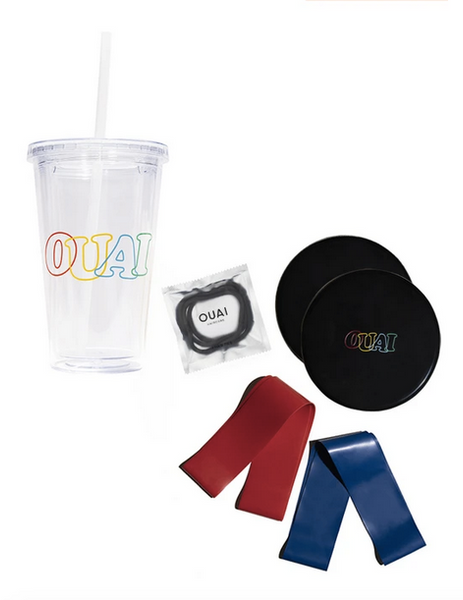 the ouai you move holiday kit resistance bands sliders tumbler hair ties holiday gift ideas for fitness lovers