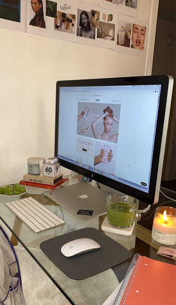 work from home tips setup coronavirus ouai body creme