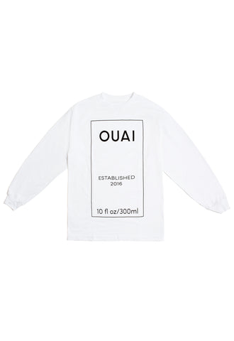 Pizzaslime x OUAI Bottle Logo L/S