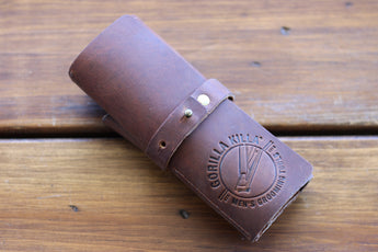 Leather Tool Roll for Men's Grooming Tools