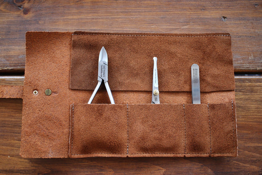 Dopp Kit with Leather Tool Roll
