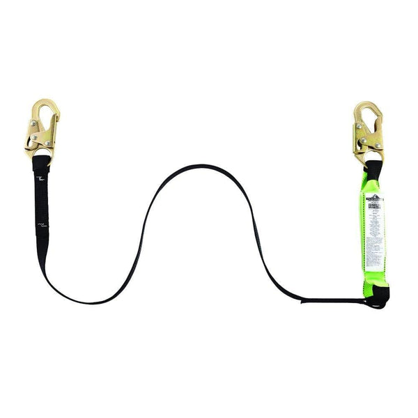 Shock Absorb Lanyard - 6 Feet - with 2 hooks