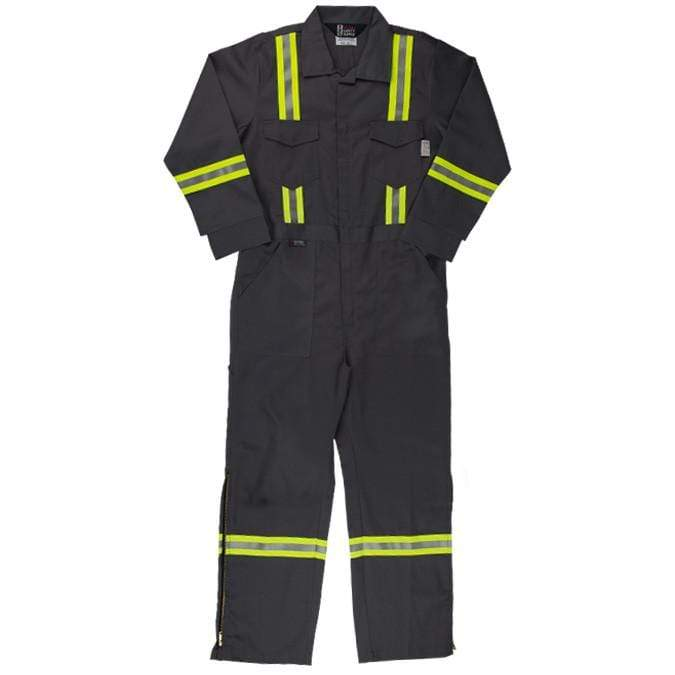 4112c7d90ff5 Flame Resistant FR Reflective Coveralls With Leg Zippers - Oil and Gas  Safety Supply - 1