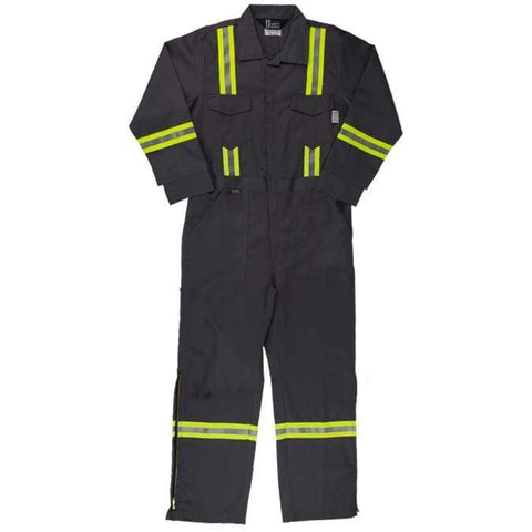 Flame Resistant FR Reflective Coveralls With Leg Zippers - Oil and Gas Safety Supply - 1