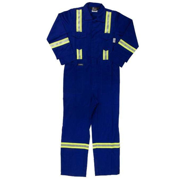 Flame Resistant FR Reflective Coveralls With Leg Zippers - Oil and Gas Safety Supply - 3