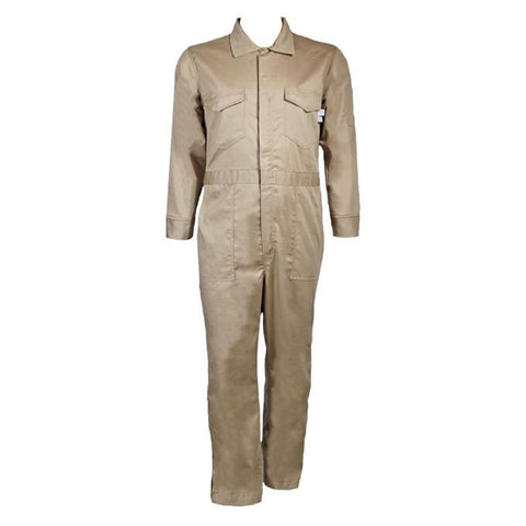 Flame Resistant Coverall Suit With Leg Zippers