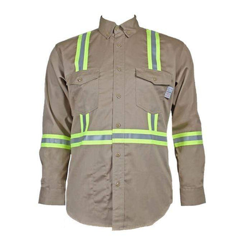 Flame Resistant  Reflective Button Shirt