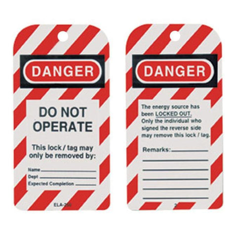 Lock Out Tag Out Tags - Oil and Gas Safety Supply